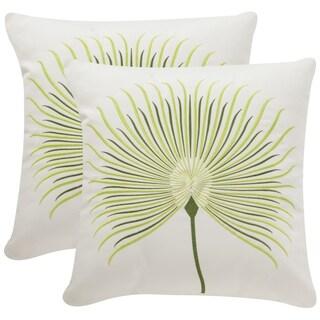 Safavieh Soleil Leste Verte Indoor/ Outdoor Sweet Green 20-inch Square Throw Pillows (Set of 2)