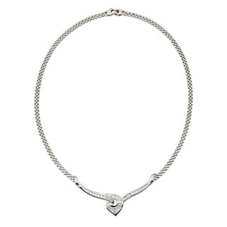 Kabella Luxe 18k White Gold 1 1/2ct TDW Diamonds Necklace (G-H, SI1-SI2)