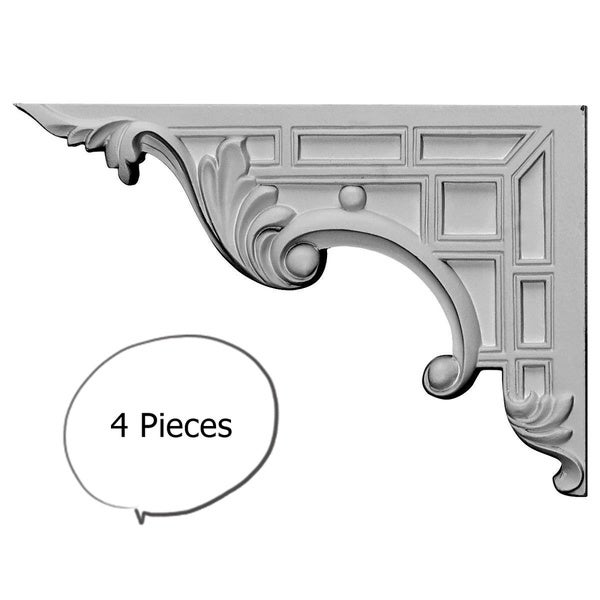 Decorative Stair Brackets LEFT 4 Pieces