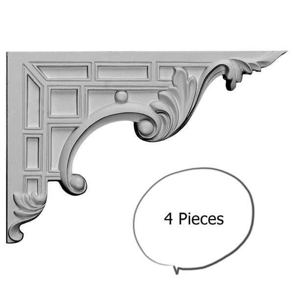 Decorative Stair Brackets Right 4 Pieces
