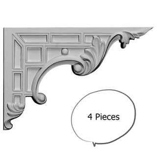 Decorative Stair Brackets Right 4-pieces