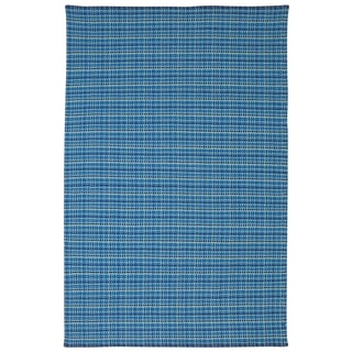 Indian Theory Blue Cotton Rug (6' x 9')