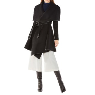 BCBGeneration Women's Cameron Black Wrapped Trench Coat