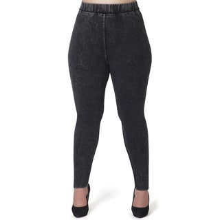 Full Figured Fashionista Women's Acid Wash Plus Size Jeggings