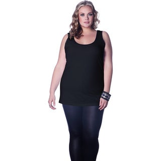 Full Figured Fashionista Women's Black Plus Size Tank Top