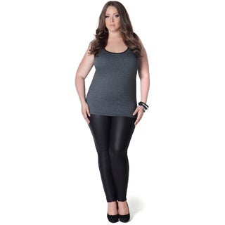 Full Figured Fashionista Women's Grey Plus Size Tank Top