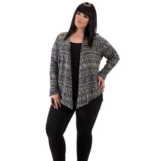 Full Figured Fashionista Women's Aztek Plus Size Cardigan