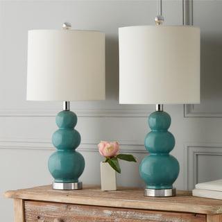 Abbyson Camden Gourd Turkish Blue Table Lamp (Set Of 2)