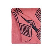 Handmade Ashmont Pink Throw (India)
