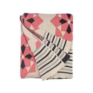 Handmade Ellesmere Pink Throw (India)