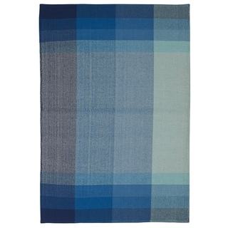 Indian Bliss Blue Cotton Rug (5' x 8')