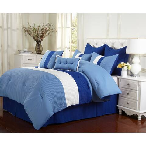 Polyester Microfiber Solid Reversible Comforter Set by Miranda Haus