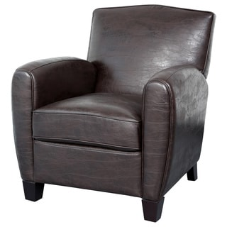 Porter Henry Espresso Brown Bonded Leather Chair