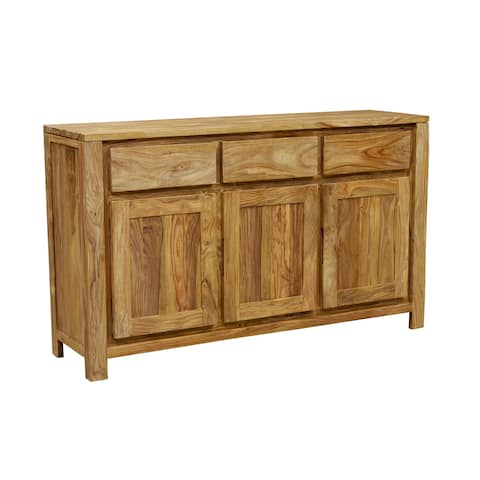 "Handmade Wanderloot Urban 3-drawer, 3-door Sheesham Wood Sideboard (India) - 34""H x 16""D x 58""W"