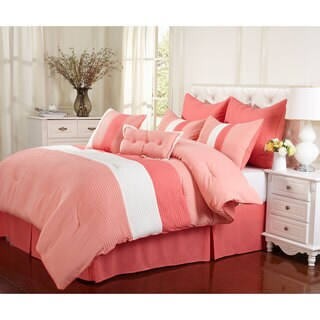 Superior Florence Coral 8-piece Comforter Set