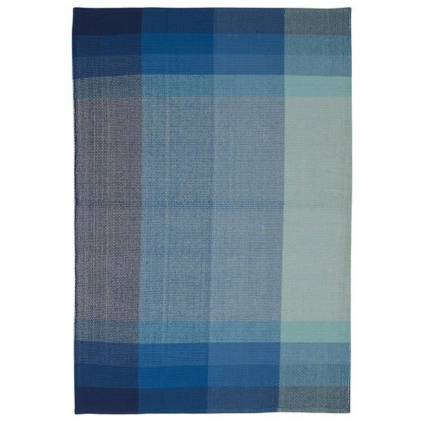 Handmade Indo Bliss Blue Cotton Rug (India) - 4' x 6'/Surplus. Opens flyout.