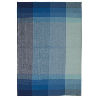 Indian Bliss Blue Cotton Rug (4' x 6')