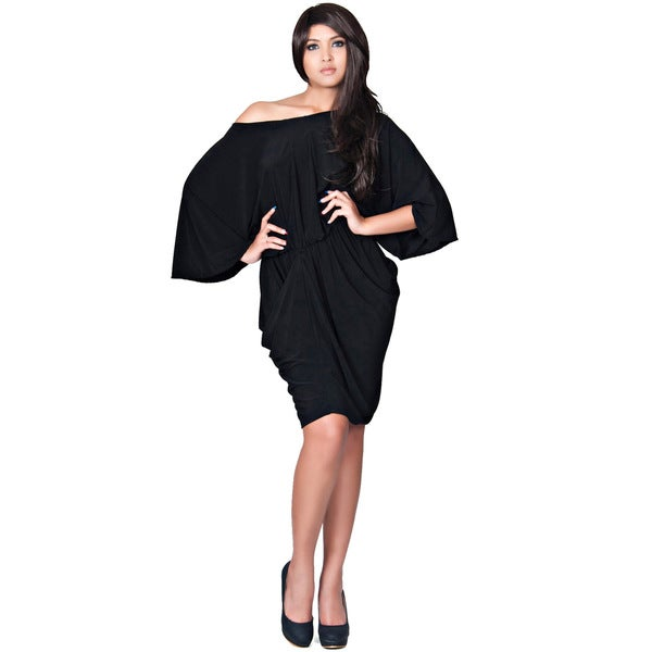 a34350d874289 Shop Koh Koh Women s Batwing Sleeve Cocktail Dress - Free Shipping ...