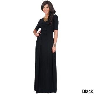 Koh Koh Women's Half-Sleeve Elegant Maxi Dress