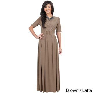 Koh Koh Women's Half-Sleeve Elegant Maxi Dress