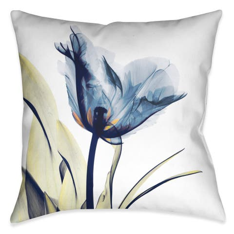 Laural Home X-Ray Tulip Decorative Throw Pillow (18 inches x 18 inches)