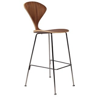 cherner inspired bar stool with metal legs