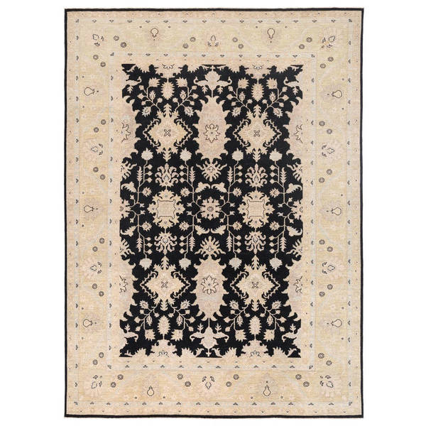 Herat Oriental Afghan Hand-knotted Vegetable Dye Oushak Wool Rug (8'10 x 11'9) - 8'10 x 11'9