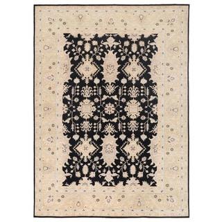 Herat Oriental Afghan Hand-knotted Vegetable Dye Oushak Wool Rug (8'10 x 11'9)
