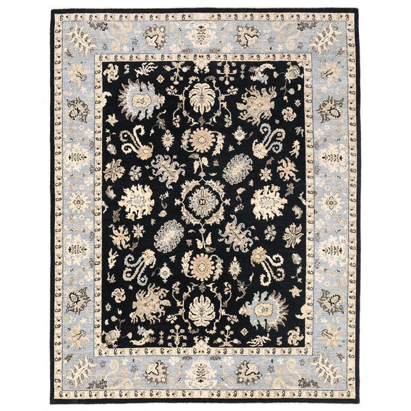Herat Oriental Afghan Hand-knotted Vegetable Dye Oushak Wool Rug (7'11 x 10') - 7'11 x 10'