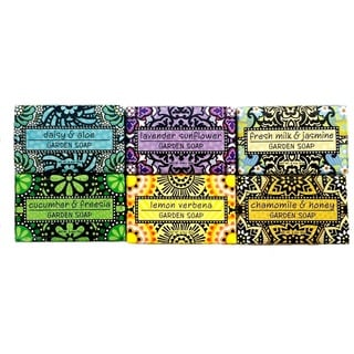 Luxurious, Fresh From the Garden Botanical Bath Soap Collection (Set of 6)