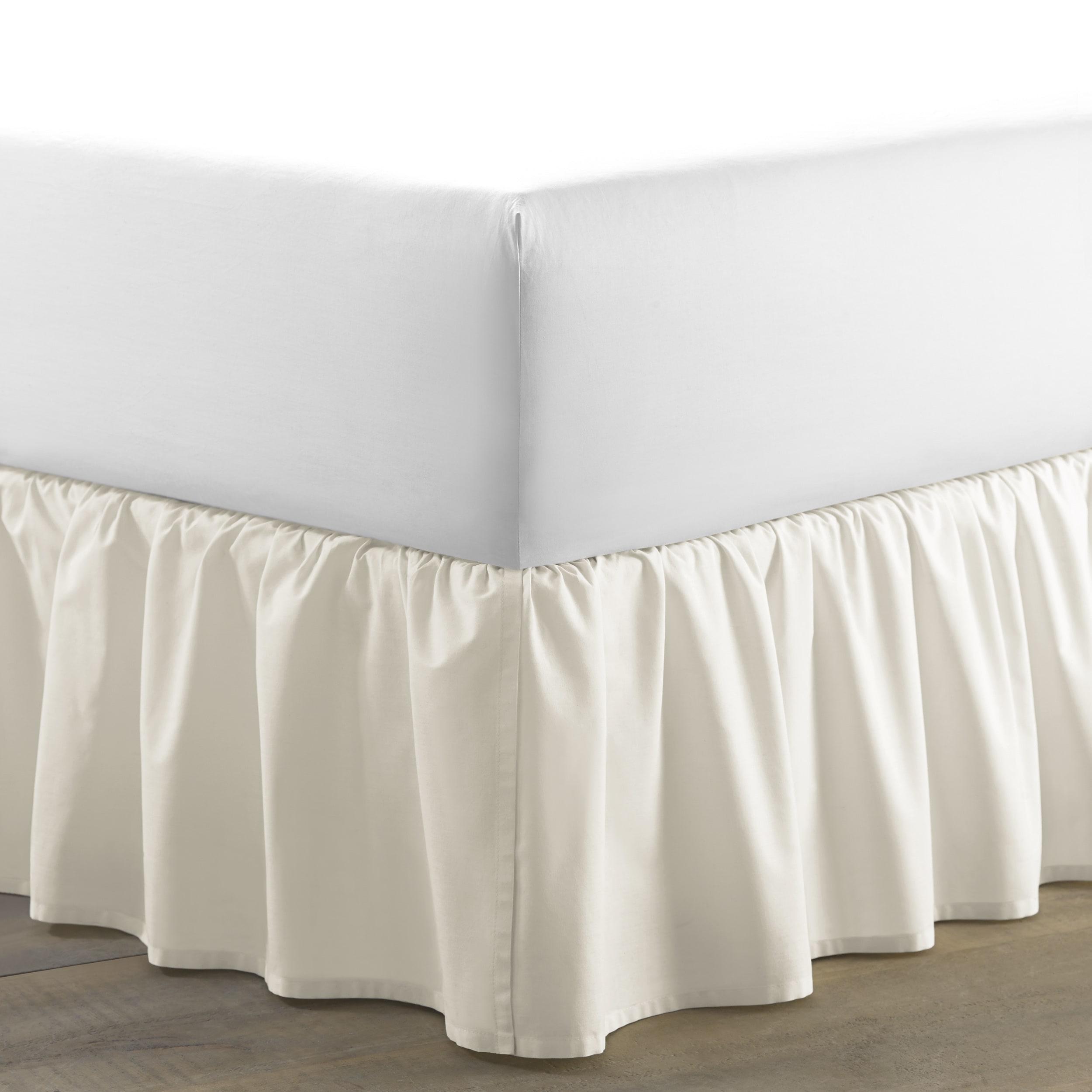 Laura Ashley Ivory Ruffled Bedskirt (Twin), Beige Off-Whi...