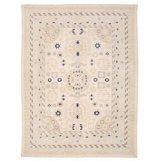 Herat Oriental Afghan Hand-knotted Vegetable Dye Khotan Wool Rug (13' x 16'8)