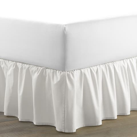 Laura Ashley White Cotton Ruffled 15-inch Drop Bedskirt