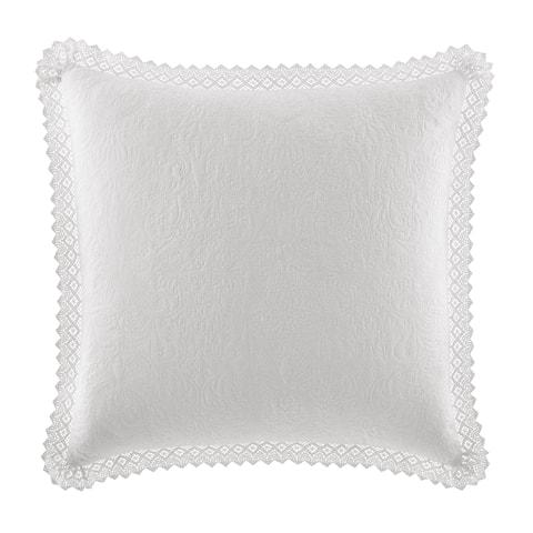 Laura Ashley Crochet European White Sham