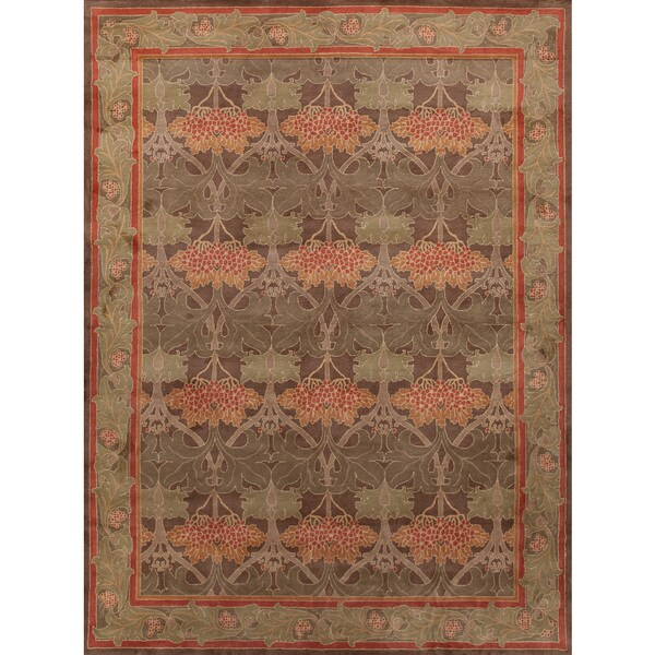 ABC Accents Handmade Art And Craft Multi Wool Rug (8' X 10
