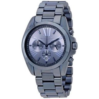 Michael Kors Women's MK6248 'Bradshaw' Chronograph Blue Stainless Steel Watch