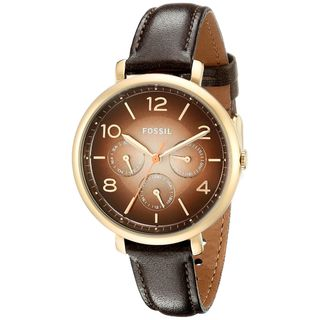 Fossil Women's ES3898 'Jacqueline' Multi-Function Brown Leather Watch