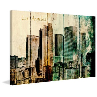 Marmont Hill - LA Downtown 2 by Irena Orlov Painting Print on Canvas