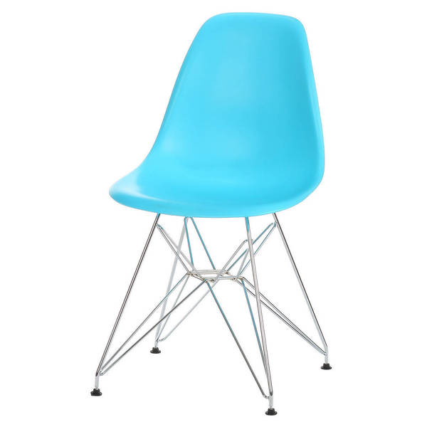 Handmade Mid-Century Modern Metal Base Dining Chair
