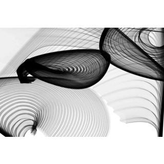 Marmont Hill - Abstract Black and White 22-15-51 v1 by Irena Orlov Painting Print on Canvas
