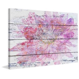 Marmont Hill - Pink & Gold Floral by Irena Orlov Painting Print on Canvas