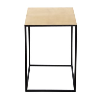 Brass Cube Table