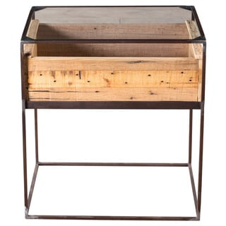 Railway Wood Box Side Table (India)