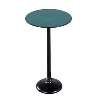 Handmade Teal and Black Pedestal Table (India)