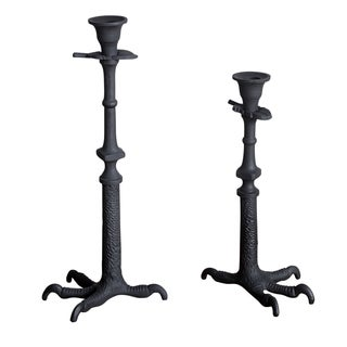 Clawfoot Black Candle Stand Set (India)