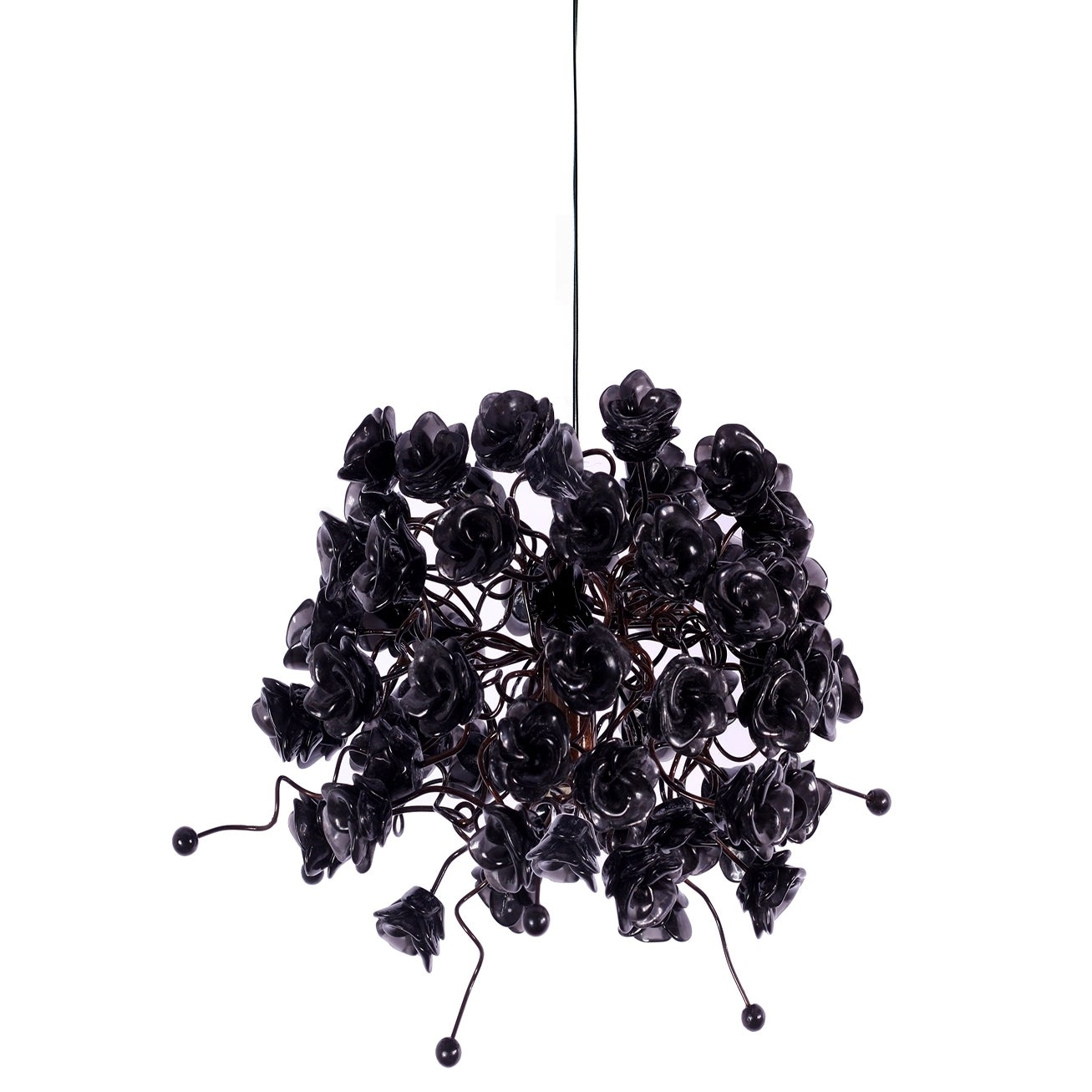Black Rosettes Pendant Hanging Light (Metal)
