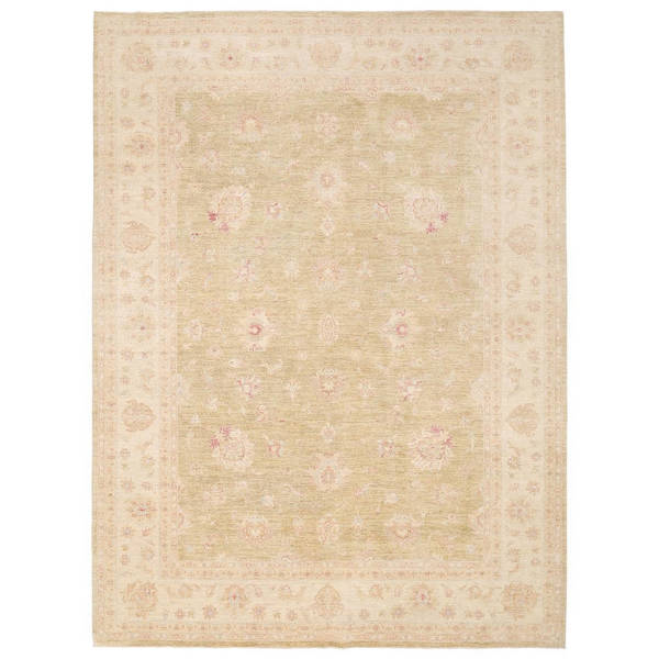 Herat Oriental Afghan Hand-knotted Vegetable Dye Oushak Wool Rug (9'10 x 13'2) - 9'10 x 13'2