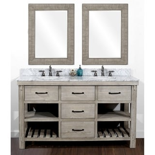 Link to Rustic Style 60-inch Double Sink Bathroom Vanity and Matching Wall Mirrors Similar Items in Bathroom Vanities
