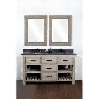 Rustic Style 60-inch Single Sink Bathroom Vanity