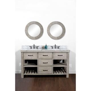60 Inch Bathroom Vanity. Rustic Style 60 Inch Double Sink Bathroom Vanity